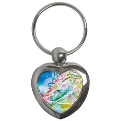 Art Abstract Abstract Art Key Chains (heart)