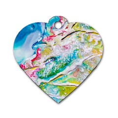 Art Abstract Abstract Art Dog Tag Heart (two Sides)