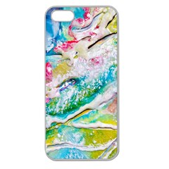 Art Abstract Abstract Art Apple Seamless Iphone 5 Case (clear)
