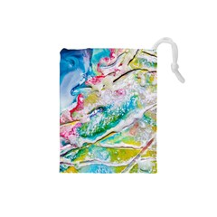 Art Abstract Abstract Art Drawstring Pouches (small)