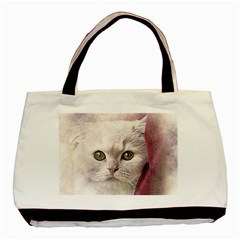 Cat Pet Cute Art Abstract Vintage Basic Tote Bag