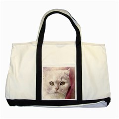 Cat Pet Cute Art Abstract Vintage Two Tone Tote Bag