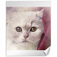 Cat Pet Cute Art Abstract Vintage Canvas 11  X 14