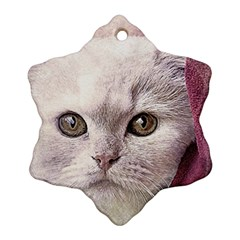 Cat Pet Cute Art Abstract Vintage Ornament (snowflake)