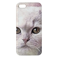 Cat Pet Cute Art Abstract Vintage Apple Iphone 5 Premium Hardshell Case