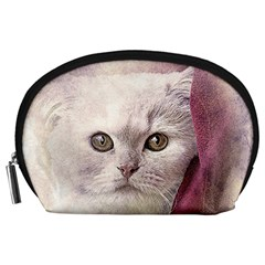 Cat Pet Cute Art Abstract Vintage Accessory Pouches (large)