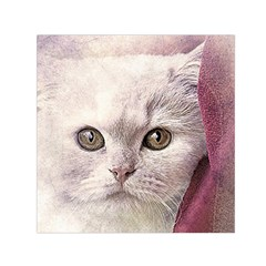 Cat Pet Cute Art Abstract Vintage Small Satin Scarf (square)