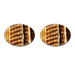 Abstract Architecture Background Cufflinks (oval)