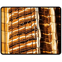 Abstract Architecture Background Double Sided Fleece Blanket (medium)