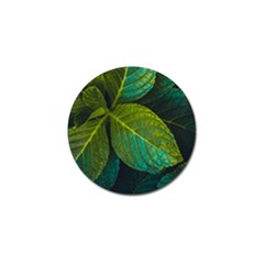 Green Plant Leaf Foliage Nature Golf Ball Marker (10 Pack)