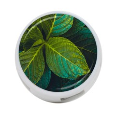 Green Plant Leaf Foliage Nature 4 Port Usb Hub (two Sides)