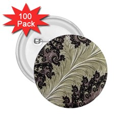 Pattern Decoration Retro 2 25  Buttons (100 Pack)