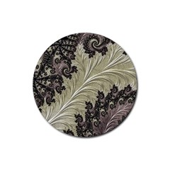 Pattern Decoration Retro Rubber Round Coaster (4 Pack)