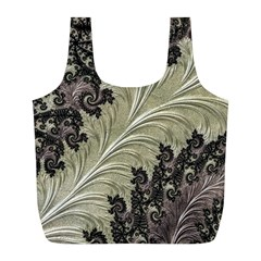 Pattern Decoration Retro Full Print Recycle Bags (l)