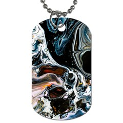 Abstract Flow River Black Dog Tag (two Sides)