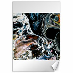 Abstract Flow River Black Canvas 20  X 30