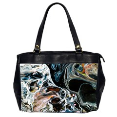 Abstract Flow River Black Office Handbags (2 Sides)