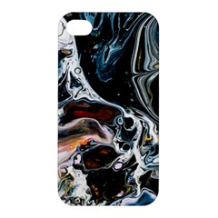 Abstract Flow River Black Apple Iphone 4/4s Hardshell Case
