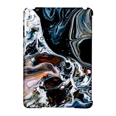 Abstract Flow River Black Apple Ipad Mini Hardshell Case (compatible With Smart Cover)