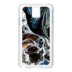 Abstract Flow River Black Samsung Galaxy Note 3 N9005 Case (white)