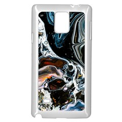Abstract Flow River Black Samsung Galaxy Note 4 Case (white)