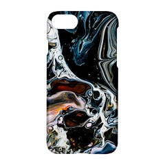 Abstract Flow River Black Apple Iphone 8 Hardshell Case