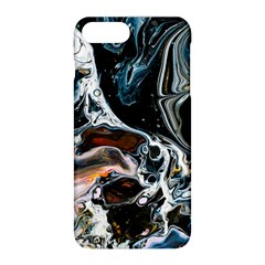 Abstract Flow River Black Apple Iphone 8 Plus Hardshell Case