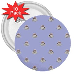 Monster Rats Hand Draw Illustration Pattern 3  Buttons (10 Pack)