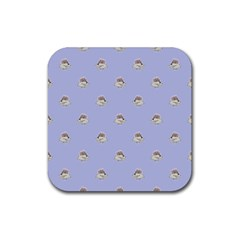 Monster Rats Hand Draw Illustration Pattern Rubber Square Coaster (4 Pack)