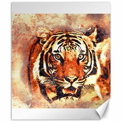 Tiger Portrait Art Abstract Canvas 8  X 10