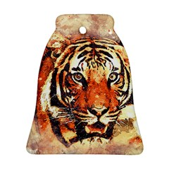 Tiger Portrait Art Abstract Ornament (bell)