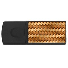 Basket Fibers Basket Texture Braid Rectangular Usb Flash Drive