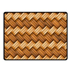 Basket Fibers Basket Texture Braid Fleece Blanket (small)