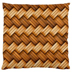 Basket Fibers Basket Texture Braid Large Flano Cushion Case (two Sides)