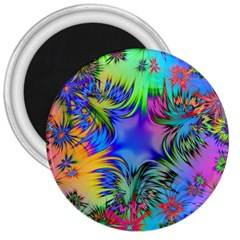 Star Abstract Colorful Fireworks 3  Magnets