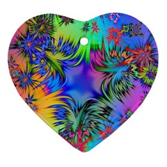 Star Abstract Colorful Fireworks Ornament (heart)
