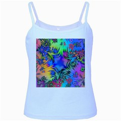 Star Abstract Colorful Fireworks Baby Blue Spaghetti Tank