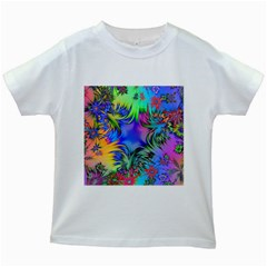 Star Abstract Colorful Fireworks Kids White T Shirts