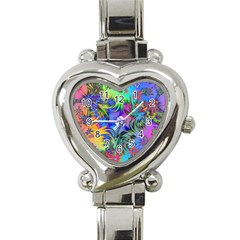 Star Abstract Colorful Fireworks Heart Italian Charm Watch