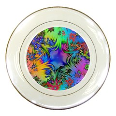 Star Abstract Colorful Fireworks Porcelain Plates