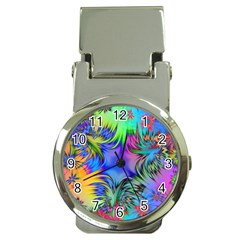Star Abstract Colorful Fireworks Money Clip Watches
