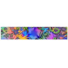 Star Abstract Colorful Fireworks Large Flano Scarf