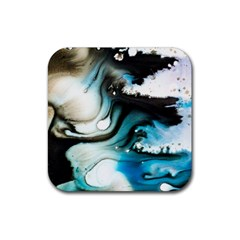 Abstract Painting Background Modern Rubber Coaster (square)