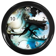 Abstract Painting Background Modern Wall Clocks (black)