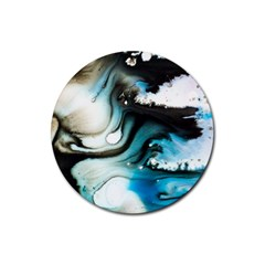 Abstract Painting Background Modern Rubber Round Coaster (4 Pack)