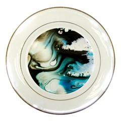 Abstract Painting Background Modern Porcelain Plates