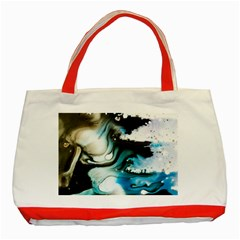 Abstract Painting Background Modern Classic Tote Bag (red)
