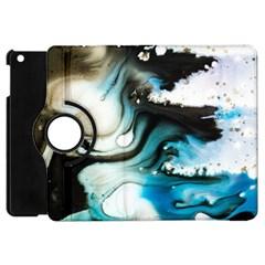 Abstract Painting Background Modern Apple Ipad Mini Flip 360 Case