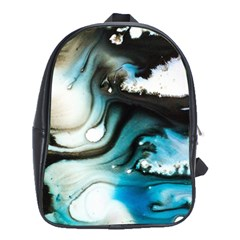 Abstract Painting Background Modern School Bag (xl)