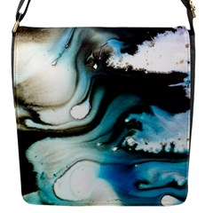 Abstract Painting Background Modern Flap Messenger Bag (s)